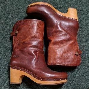 UGG Leather Sheepskin Lined Heels